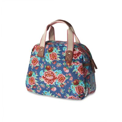 Basil Bloom Kids Carry All - bicycle bag - 11L - Indigo blue with flowers