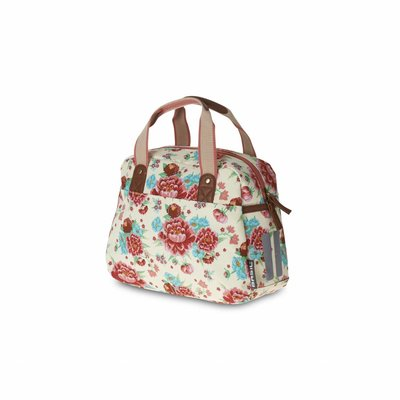 Basil Basil Bloom Kids Carry All - bicycle bag - 11L - white with flowers