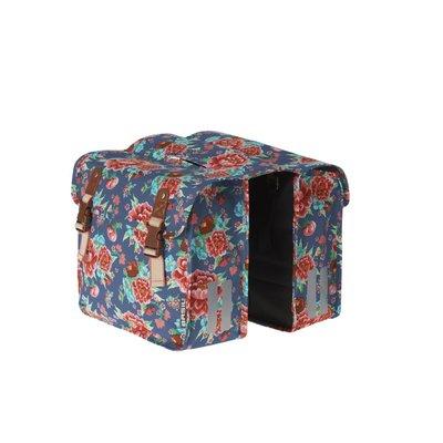 Basil Bloom Kids - Double Bag - 20L - indigo blue with flowers