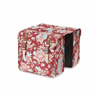 Basil Bloom Kids - Doppeltasche - 20L - Rot mit Blumen