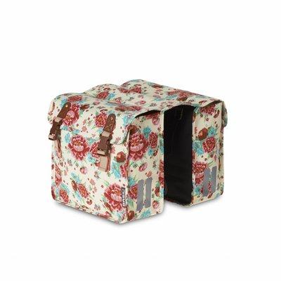 Basil Basil Bloom Kids - Doppeltasche - 20L - Weiss mit Blumen