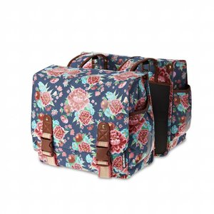 Basil Basil Bloom Double Bag - double bag - 35L - blue with flowers