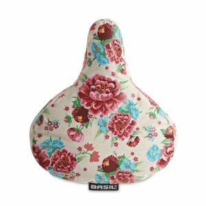 Basil Basil Bloom Saddle Cover - zadelhoes - wit met bloemen