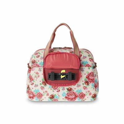 Basil Basil Bloom Carry All Bag - Fahrradtaschen - 18L - Weiss mit Blumen
