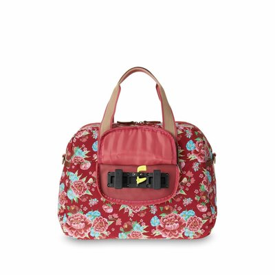 Basil Bloom Carry All Bag - Fahrradtaschen - 18L - Rot mit Blumen