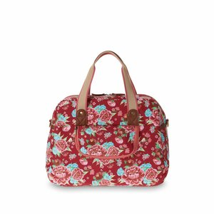 Basil Basil Bloom Carry All Bag - fietsschoudertas - 18L - Rood met bloemen