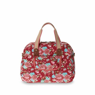 Basil Basil Bloom Carry All Bag - Fahrradtaschen - 18L - Rot mit Blumen