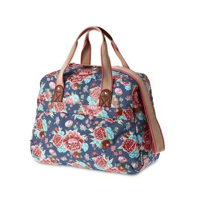 Basil Bloom Carry All Bag - Fahrrad Umhängetasche - 18L - blau mit Blumen