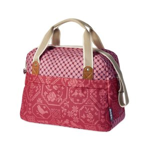 Basil Boheme Carry All - single bike bag - bicycle shoulder bag - 18L - red