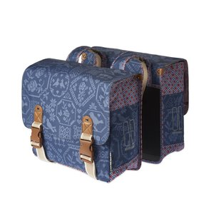 Basil Bohème Double Bag- double bike bag - 35L- blue