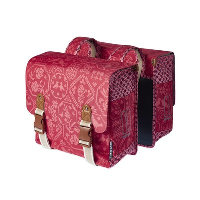 Basil Bohème Double Bag- double bike bag - 35L- red