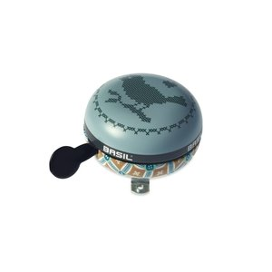 Basil Boheme Big Bell - bicycle bell - 80MM - green with bohemian print