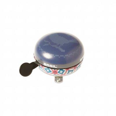 Basil Basil Boheme Big Bell - bicycle bell - 80MM - blue with bohemian print