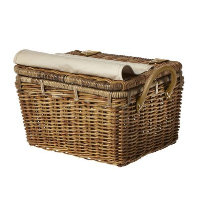 Basil Basil Portland Basket Classic - carrier with lid - bicycle basket - 43L - brown