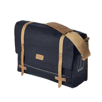 Basil Portland Messenger - fietsschoudertas - laptopfietstas- 20L - donkerblauw