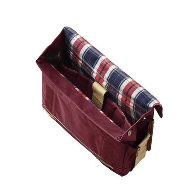 Basil Basil Portland Messenger - Bike Shoulder Bag - Laptop Bike Bag - 20L - Red