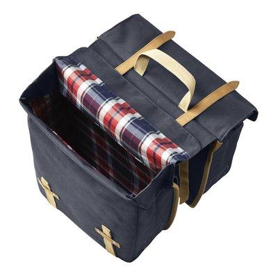 Basil Basil Portland Slimfit Double Bag - double bike bag - bicycle bag - 29L - blue