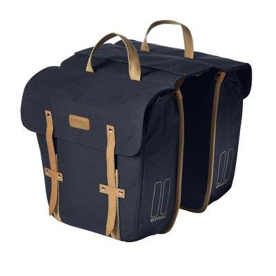 Basil Portland Slimfit Double Bag - doppelte fahrradtasche - einfache fahrradtasche - 29L - blau