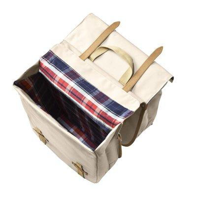 Basil Basil Portland Slimfit Double Bag - double bike bag - bicycle bag - 29L - cream
