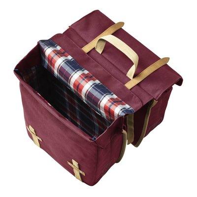 Basil Basil Portland Slimfit Double Bag - double bike bag - bicycle bag - 29L - red