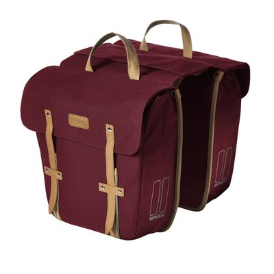 Basil Basil Portland Slimfit Double Bag - doppelte fahrradtasche - einfache fahrradtasche - 29L - rot