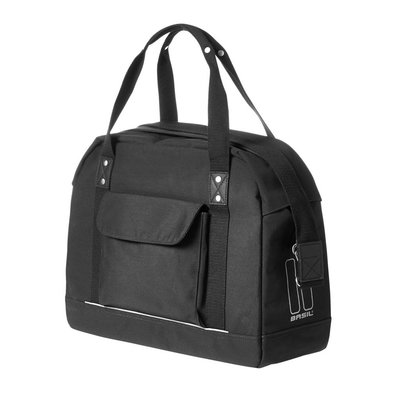 Basil Portland Business Bag – laptop bike bag - bike shoulder bag - 19L - black
