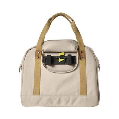 Basil Portland Business Bag - laptop bike bag - bike shoulder bag - 19L - cream