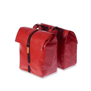 Basil Urban Dry Double Bicycle Bag - Red