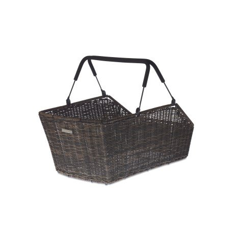 Basil Cento Rattan Look Multi System Bicycle Basket Rear