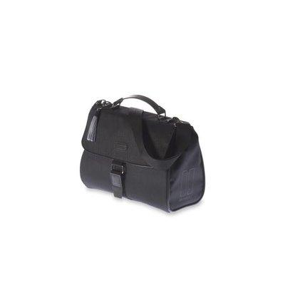 Basil Noir City Bag - stuurtas - fietsschoudertas - handtas - 6L - zwart