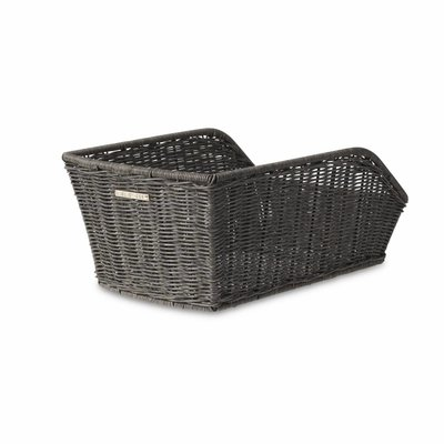 Basil Cento Rattan Look - bicycle basket - gray