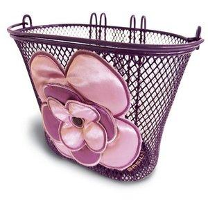 Jasmin - kinderfietsmand - lila - roze