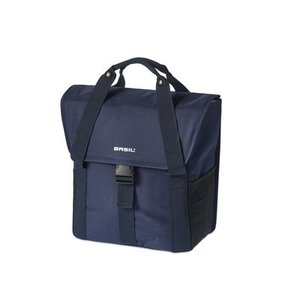 Basil GO Single Bag - shopper - fahrradtasche 18L - blau