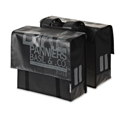 Basil Transport - dubbele fietstas - zwart