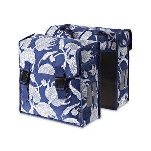 Basil Basil Blossom Botanica – double bike bag – blue