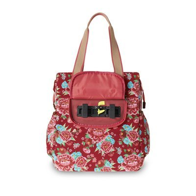 Basil Basil Bloom - shopper - bicycle shopper - 20L - red with flowers