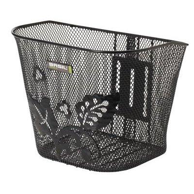 Basil Berlin Flower - bicycle basket - black