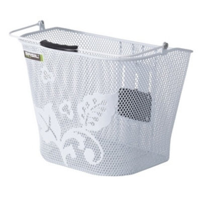 Basil Basil Basimply Flower - bicycle basket - white