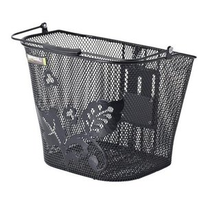 Basil Basil Basimply Flower - bicycle basket - black