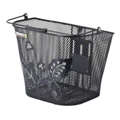 Basil Basimply Flower - bicycle basket - black