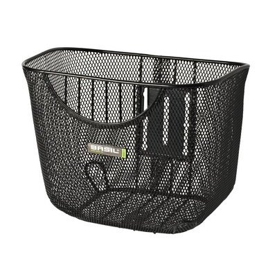 Basil Berlin Luxe - bicycle basket - black