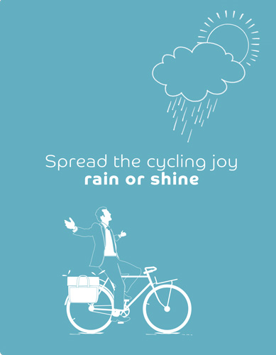 Spread the cycling joy - rain or shine