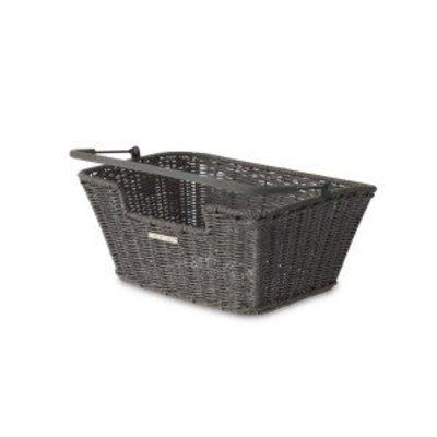Basil Basil Capri Rattan Look - fahrradkorb - grau