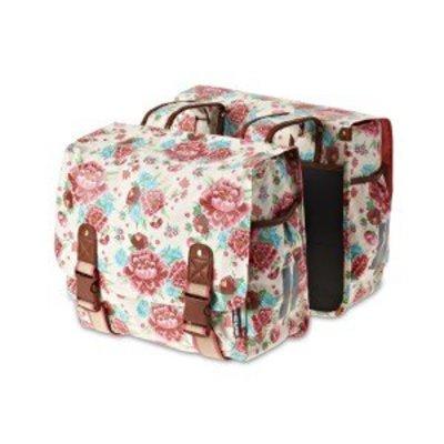 Basil Bloom Double Bag - Doppeltasche - 35L - Weiss mit Blumen