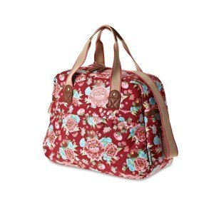 Basil Bloom Carry All Bag - Bike bag - 18L - Red with flowers