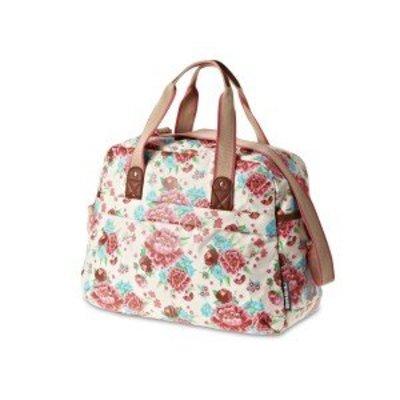 Basil Bloom Carry All Bag - Fahrradtaschen - 18L - Weiss mit Blumen