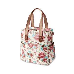 Basil Bloom Shopper - Bike Shopper - 20L - white with flowers