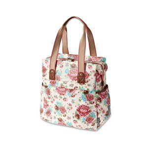 Basil Shopper Bloom - Fahrrad Shopper - 20L - Weiss mit Blumen