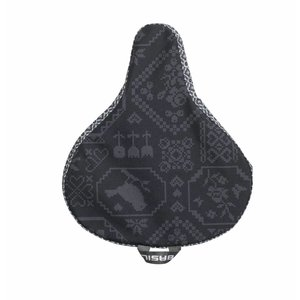 Basil Bohème - saddle cover - charcoal