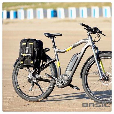 Basil Miles - fietstas - 17L - zwart